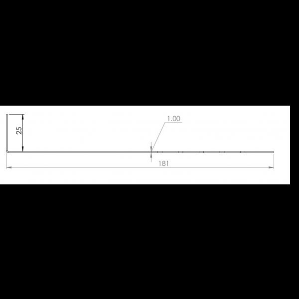 Visuel Tôle départ Alu Ventilée Packeasy® prof. 181 mm RAL 1019