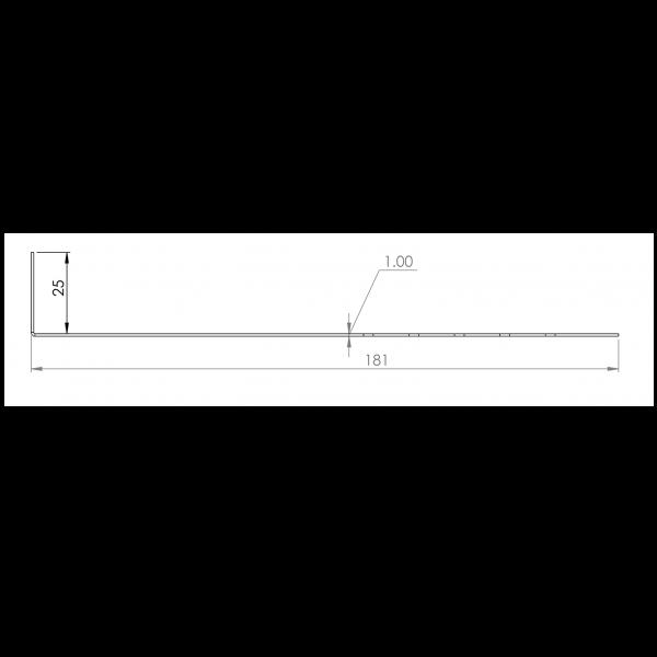 Visuel Tôle départ Alu Ventilée Packeasy® prof. 181 mm RAL 7035