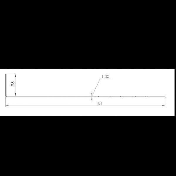 Visuel Tôle départ Alu Ventilée Packeasy® prof. 181 mm RAL 8008