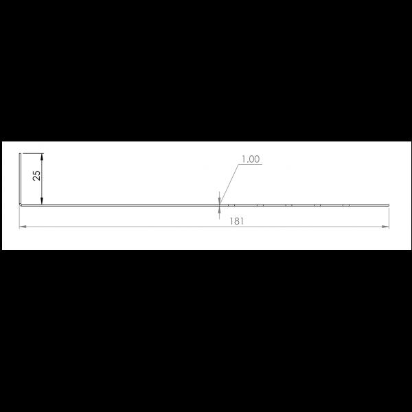 Visuel Tôle départ Alu Ventilée Packeasy® prof. 181 mm RAL 9016