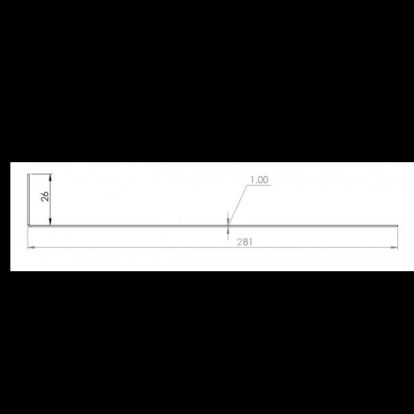 Visuel Tôle départ Alu Ventilée Packiso® prof. 280 mm RAL 1019