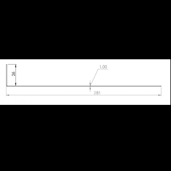 Visuel Tôle départ Alu Ventilée Packiso® prof. 280 mm RAL 7022