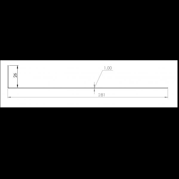 Visuel Tôle départ Alu Ventilée Packiso® prof. 280 mm RAL 7035