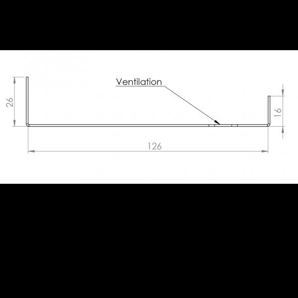 Visuel Tôle Départ Alu Ventilée prof. 126 mm Tasseaux 32 mm RAL 7040