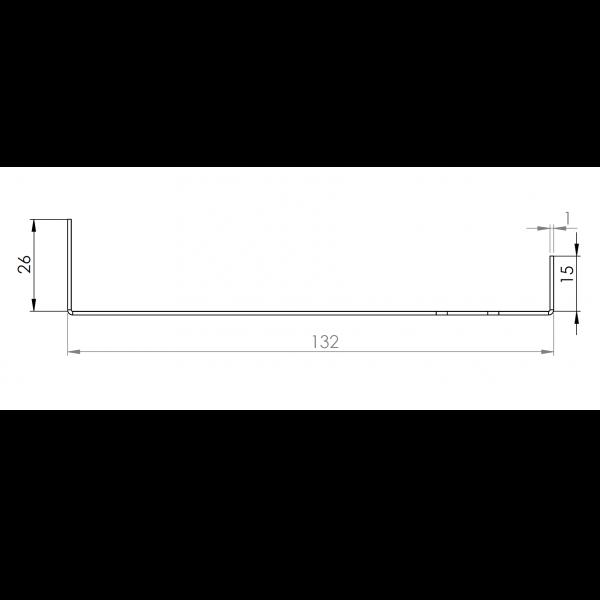 Visuel Tôle Départ Alu Ventilée prof. 132 mm Tasseaux 40 mm RAL 7035