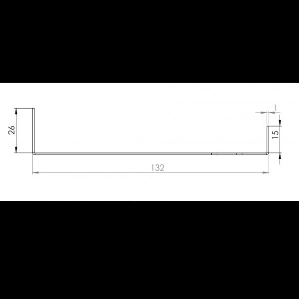 Visuel Tôle Départ Alu Ventilée prof. 132 mm Tasseaux 40 mm RAL 7040
