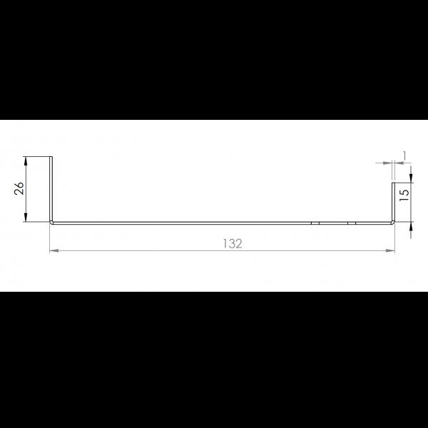Visuel Tôle Départ Alu Ventilée prof. 132 mm Tasseaux 40 mm RAL 8008