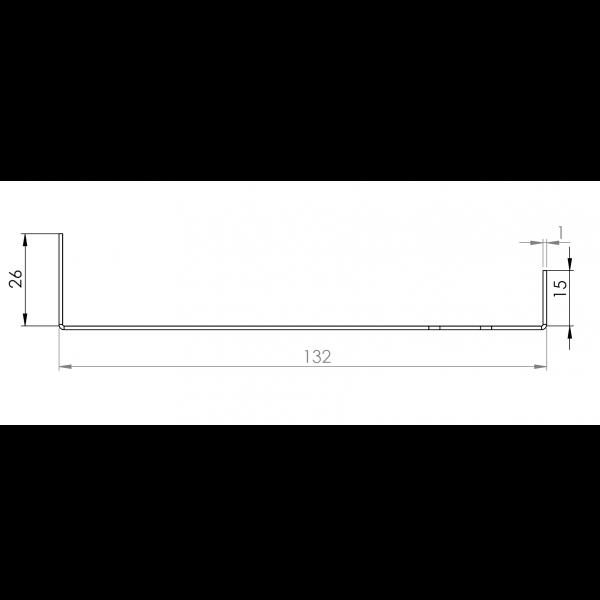 Visuel Tôle Départ Alu Ventilée prof. 132 mm Tasseaux 40 mm RAL 9016