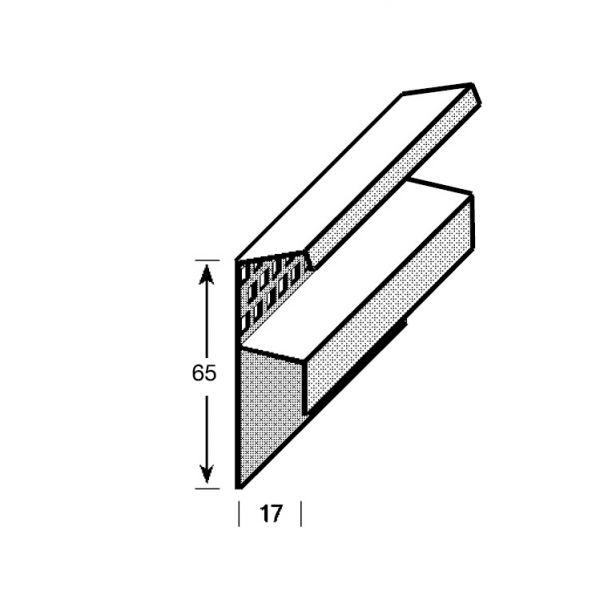Visuel Profil de Finition Haut Vinybrick® 65 x 17 mm Marron