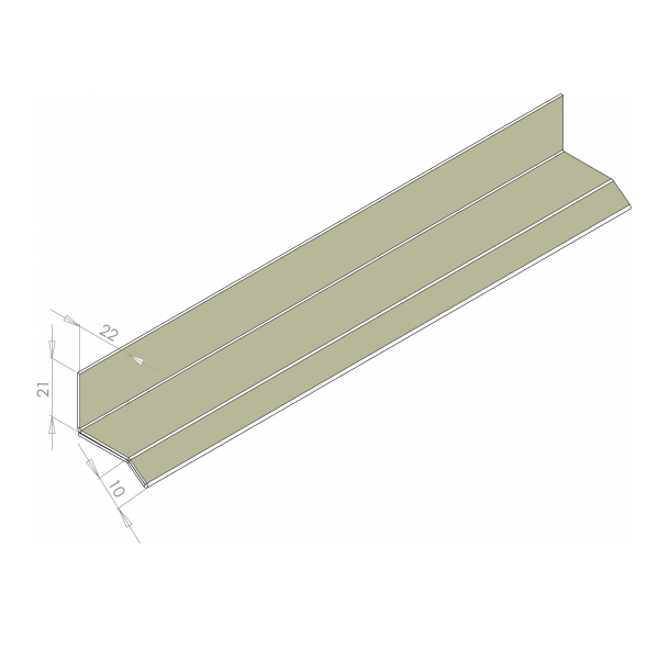 Visuel Larmier Alu 22 mm RAL 7032