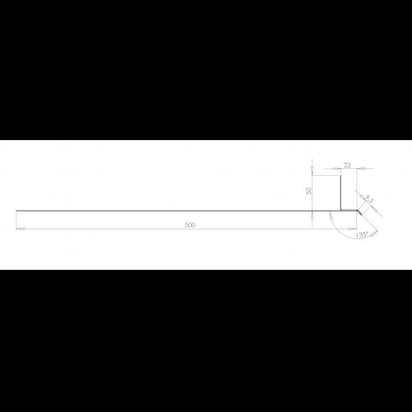 Visuel Tôle Linteau Alu Ventilée 22 mm RAL 1013