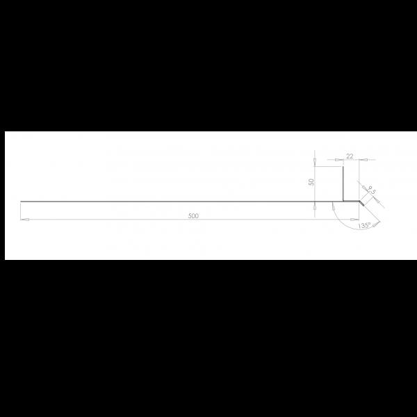 Visuel Tôle Linteau Alu Ventilée 22 mm RAL 1015