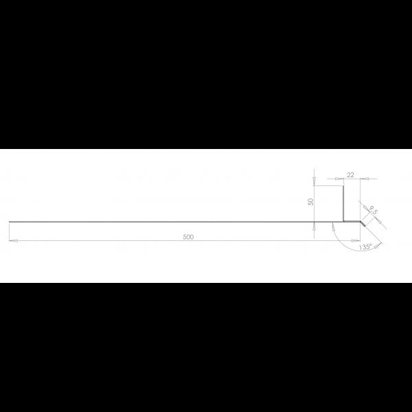 Visuel Tôle Linteau Alu Ventilée 22 mm RAL 1019