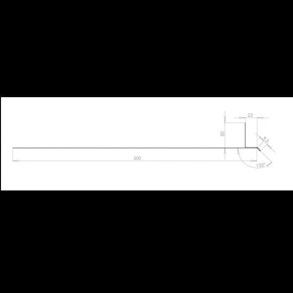 Visuel Tôle Linteau Alu Ventilée 22 mm RAL 7016
