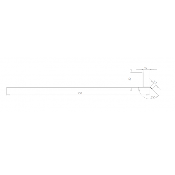Visuel Tôle Linteau Alu Ventilée 22 mm RAL 7035