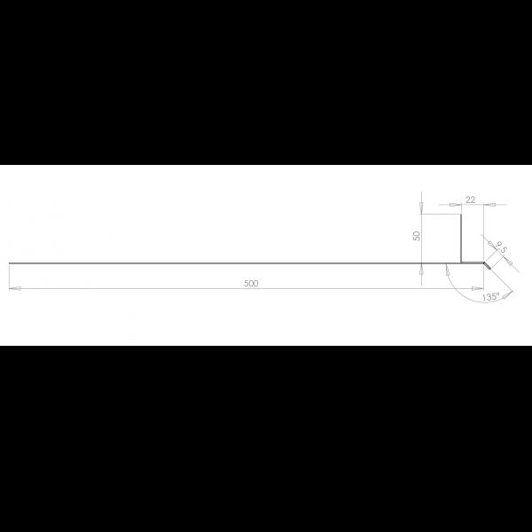 Visuel Tôle Linteau Alu Ventilée 22 mm RAL 7040