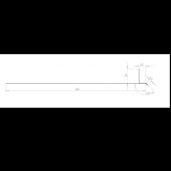 Visuel Tôle Linteau Alu Ventilée 22 mm RAL 8008