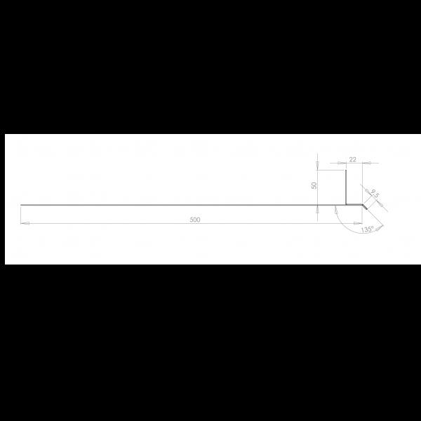 Visuel Tôle Linteau Alu Ventilée 22 mm RAL 9016