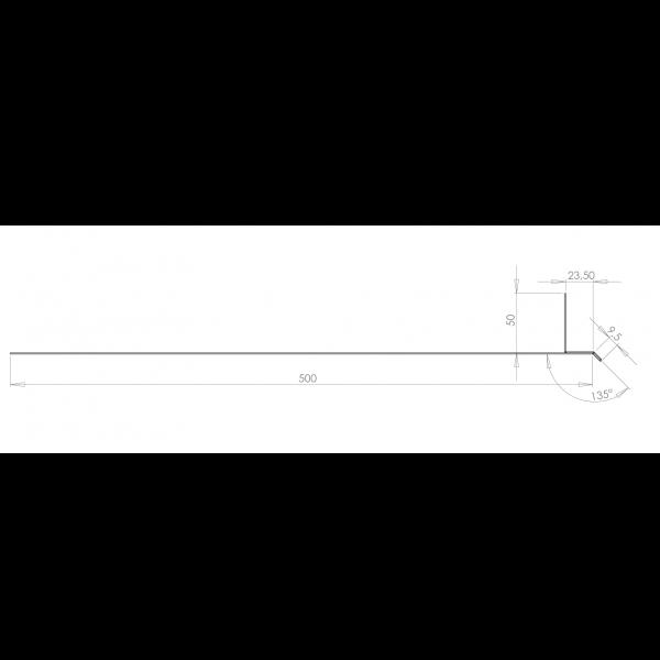 Visuel Tôle Linteau Alu Ventilée 23 mm RAL 1013