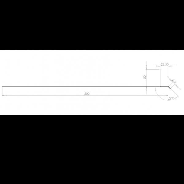 Visuel Tôle Linteau Alu Ventilée 23 mm RAL 1015