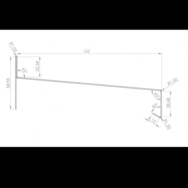 Visuel Tôle Rive Alu prof. 164 mm RAL 3011