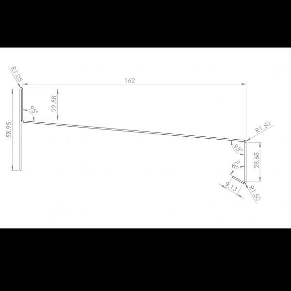 Visuel Tôle Rive Alu prof. 164 mm RAL 7016