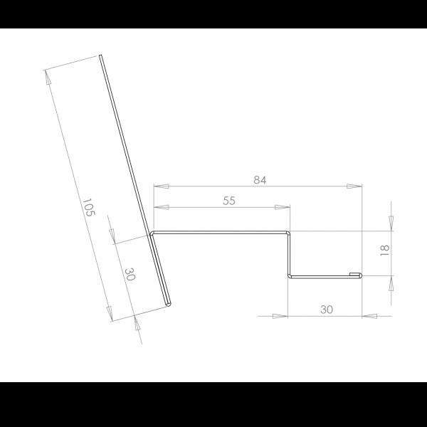 Visuel Tôle de Ventilation Haute Alu prof. 65 mm RAL 7035