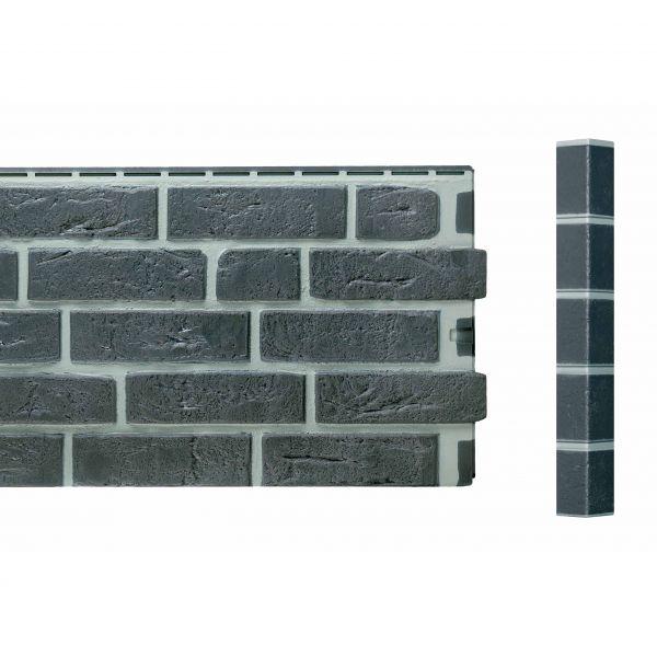 Visuel Angle Brique Standard Vinybrick® 420 x 45 x 45 mm Anthracite