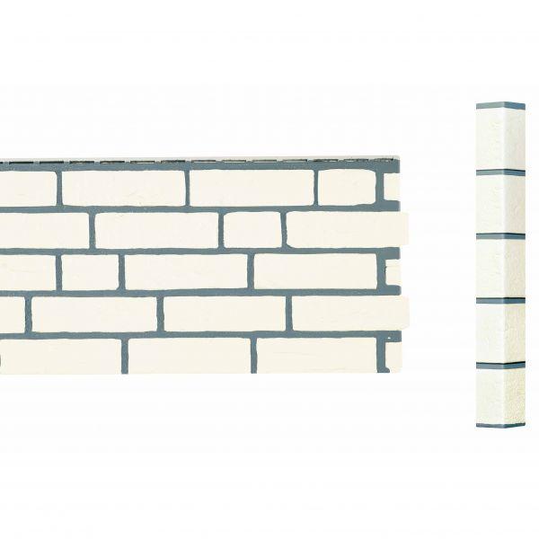 Visuel Angle Brique Standard Vinybrick® 420 x 45 x 45 mm Blanc cassé