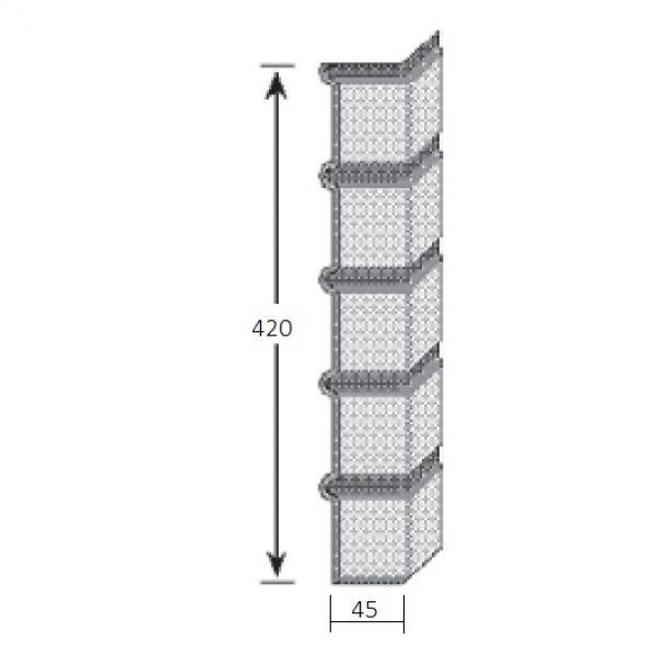 Visuel Angle Brique Standard Vinybrick® 420 x 45 x 45 mm Ivoire