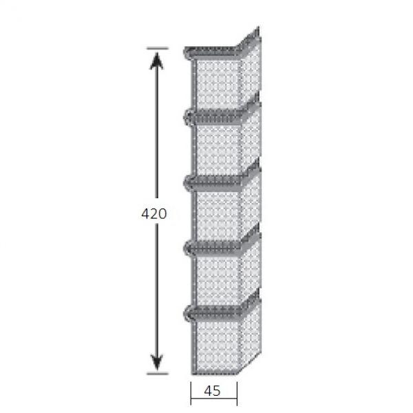 Visuel Angle Brique Standard Vinybrick® 420 x 45 x 45 mm Rouge flammé