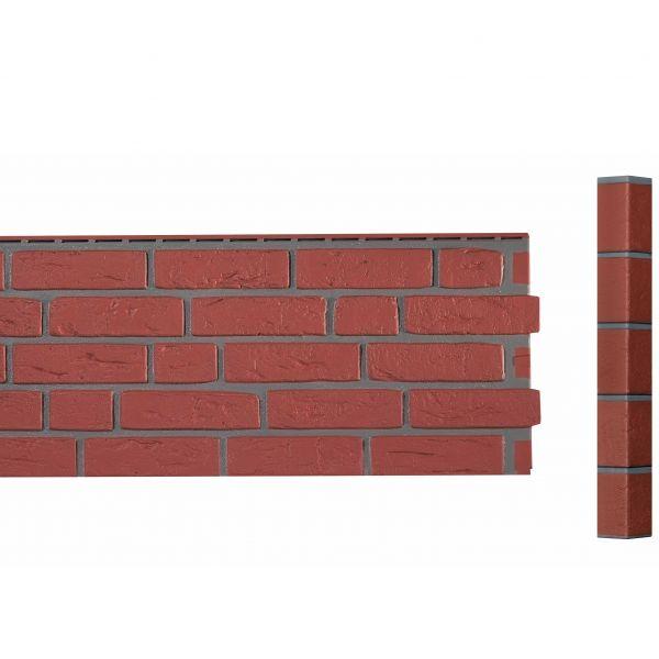 Visuel Angle Brique Standard Vinybrick® 420 x 45 x 45 mm Brique rouge
