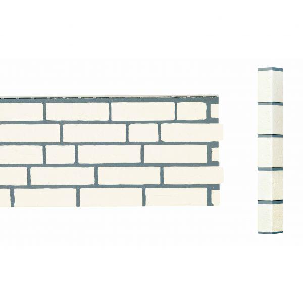 Visuel Angle Brique Sablée Vinybrick® 420 x 45 x 45 mm Blanc cassé