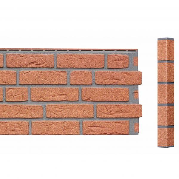 Visuel Angle Brique Sablée Vinybrick® 420 x 45 x 45 mm Brique rouge