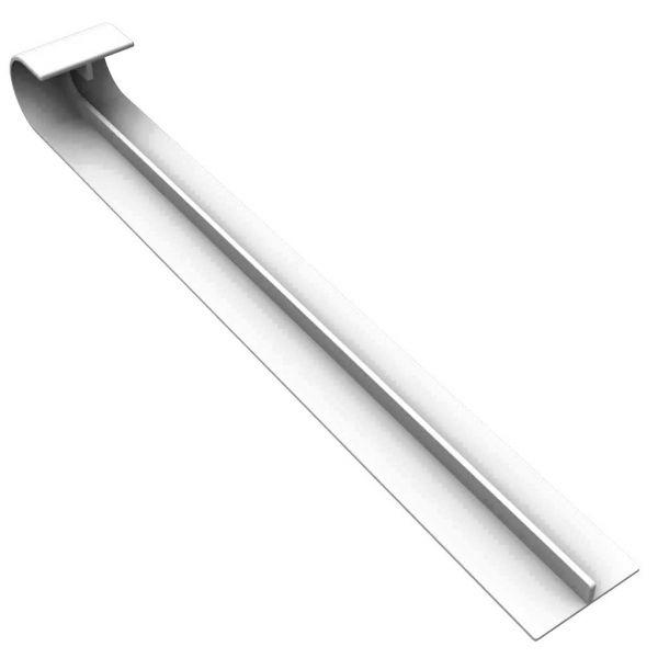 Visuel Angle Intérieur pour Planche de Rive Arrondie 250 x 16 mm Blanc