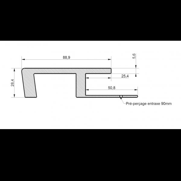 Visuel Profil de Raccord Zumaclin® Bleu horizon