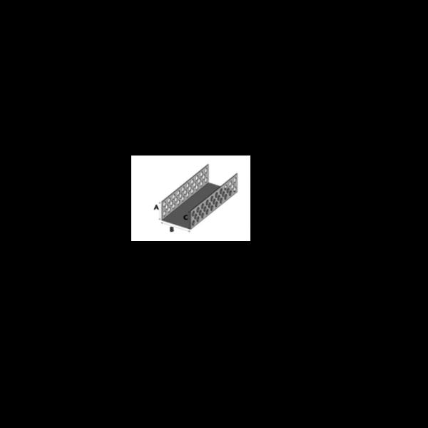 Visuel Profil d'Aération et de Ventilation Alu 100 x 30 mm