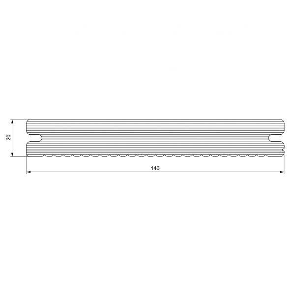 Visuel Lame de Terrasse Caractère Pleine Twinson® 4000 x 140 x 20 mm Brun noisette