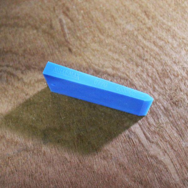 Visuel Cales Biaises Bleu 75 x 30 x 10 mm