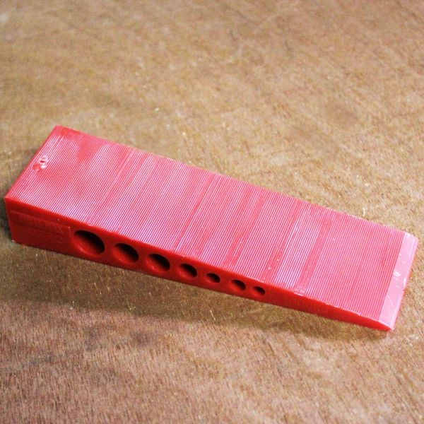 Visuel Cales Biaises Rouge 150 x 45 x 25 mm