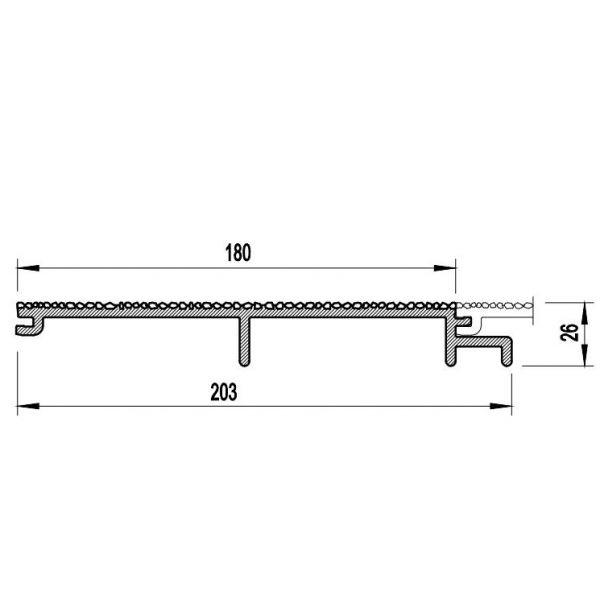 Visuel Bardage PVC Cellulaire Vinytherm® sans chanfrein Aspect Crépi Dolomit - 6 x 6 ml
