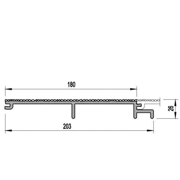 Visuel Bardage PVC Cellulaire Vinytherm® sans chanfrein Aspect Crépi Tirol - 6 x 6 ml