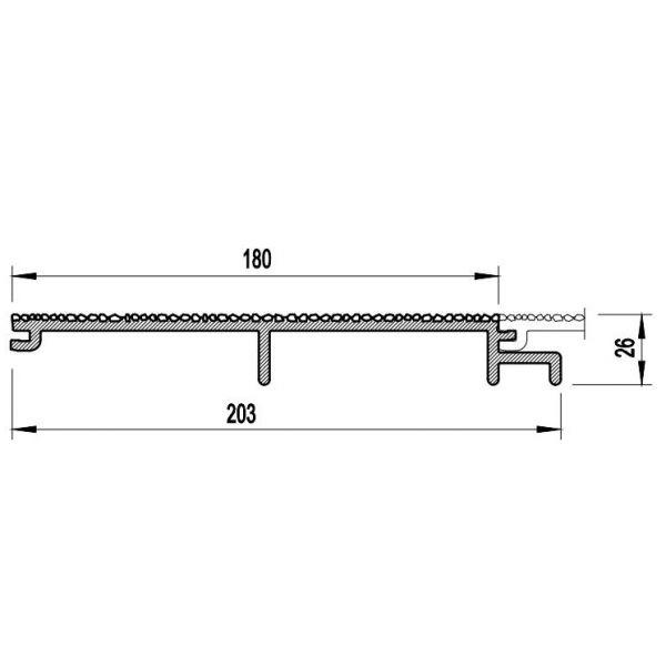 Visuel Bardage PVC Cellulaire Vinytherm® sans chanfrein Aspect Crépi Madeira - 6 x 6 ml