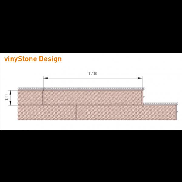 Visuel Bardage PVC Vinystone® Design Tirol - 6 x 1.20 ml