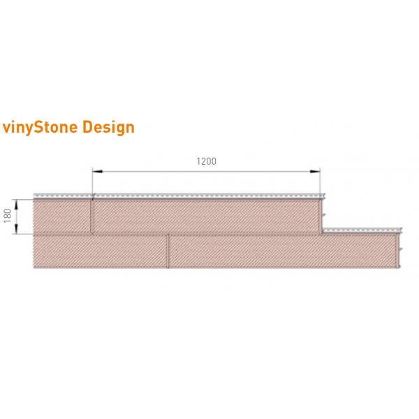 Visuel Bardage PVC Vinystone® Design Aspect Pierre Bordeaux - 6 x 1.20 ml