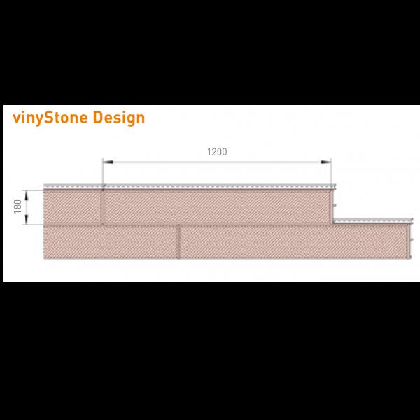 Visuel Bardage PVC Vinystone® Design Aspect Pierre Toscana - 6 x 1.20 ml