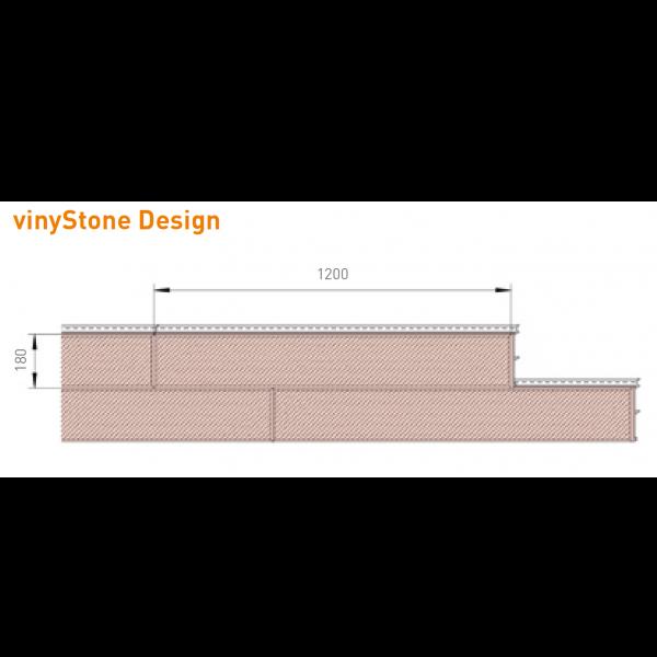 Visuel Bardage PVC Vinystone® Design Aspect Pierre Madeira - 6 x 1.20 ml