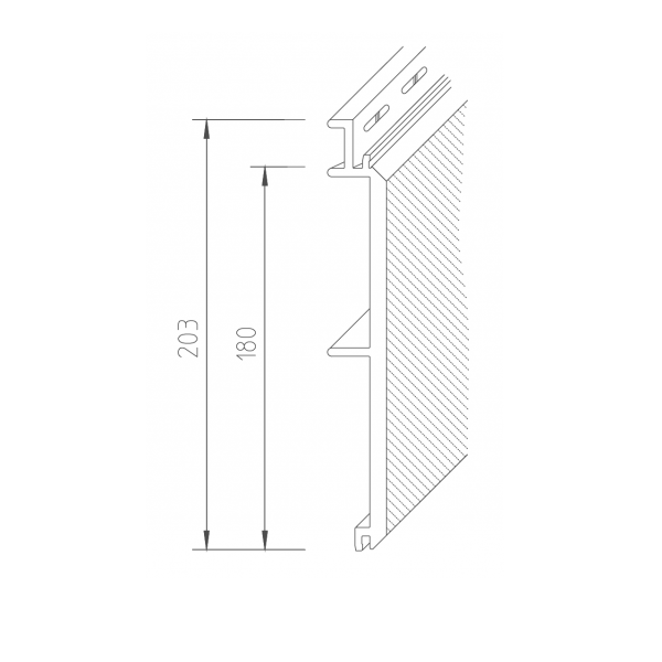 Visuel Bardage PVC Vinystone® Design Aspect Pierre Helios - 6 x 1.20 ml