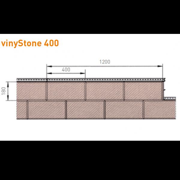 Visuel Bardage PVC Vinystone® Design Ravenna - 6 x 1.20 ml