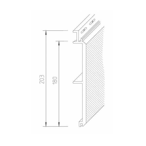 Visuel Bardage PVC Vinystone® Design Rhodos - 6 x 1.20 ml